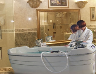 tub for spa with underwater whirlpool massage