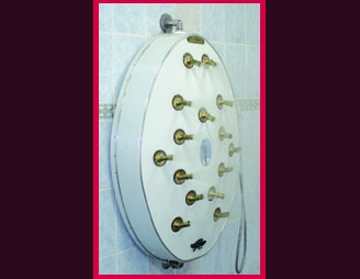 wall mounted panel Double Shower